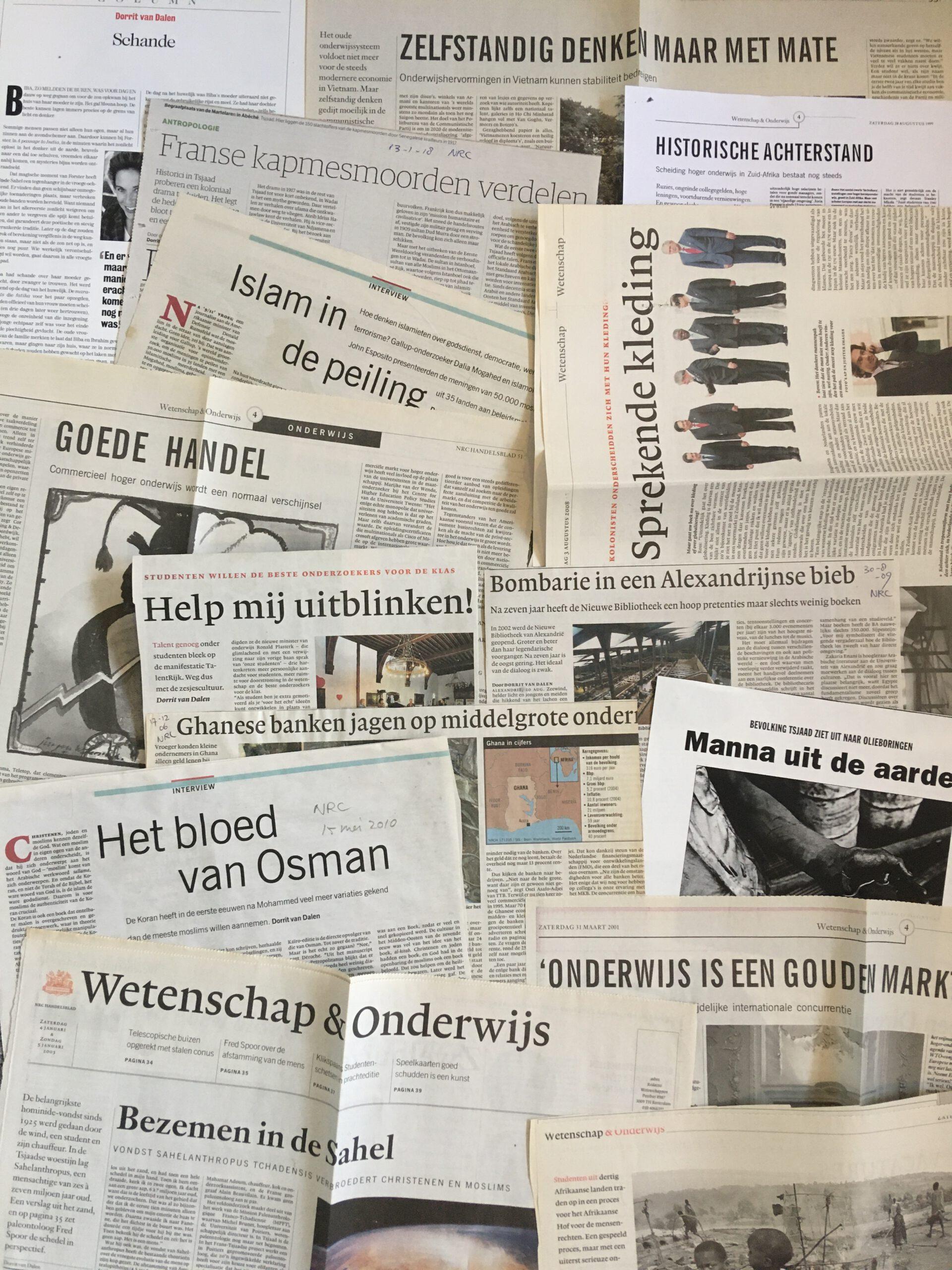 krantenstukken